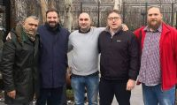 Da sinistra a destra, Fabio Tortosa, Branko Vucinic, Goran Kosanovic, Marco Quercio e Nikola Davidovic