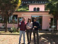 Da sinistra a destra, Fabio Tortosa (Consigliere Federale FIDAF), Matilde Eloisa Pitorri (Consigliere Delegato di Cottorella) e Fabrizio Rossi (Consigliere Federale FIDAF).