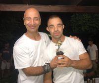 Riccardo Cadeo con il Presidente dei Mustangs Mantova, Antonio Battista