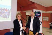 La Preside del Liceo E. Fermi, Tania Pascucci, e il CF Alessandro Zarbo.